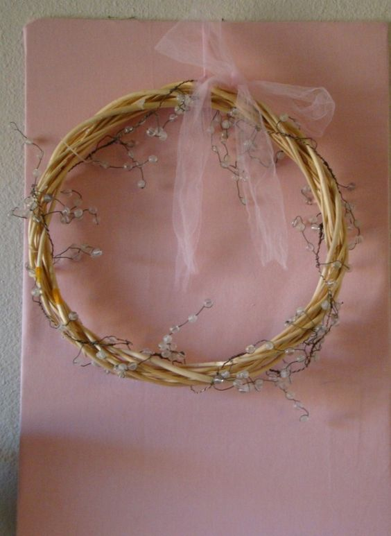 Spring Mantle Wreath: