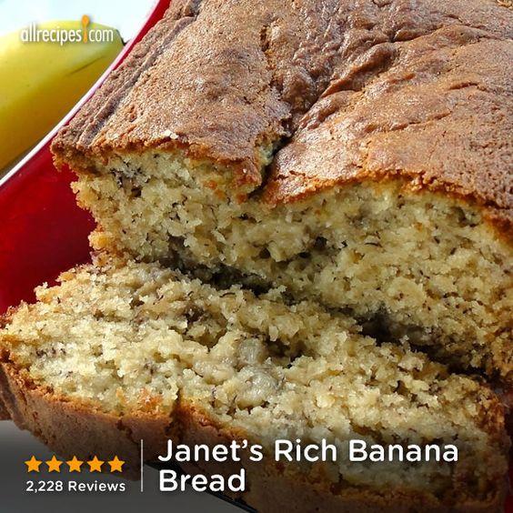 Janet's Rich Banana Bread | Make use of those prime overripe bananas ...