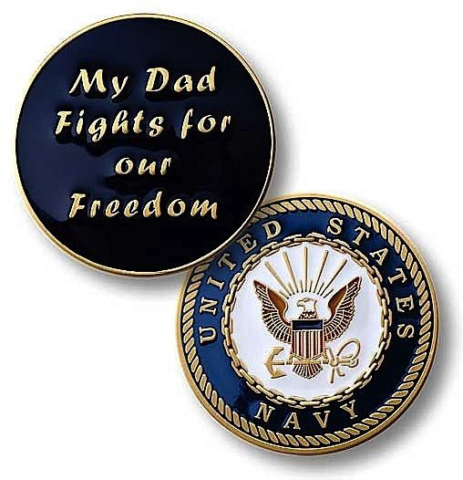 My Dad Fights Challenge Coin
