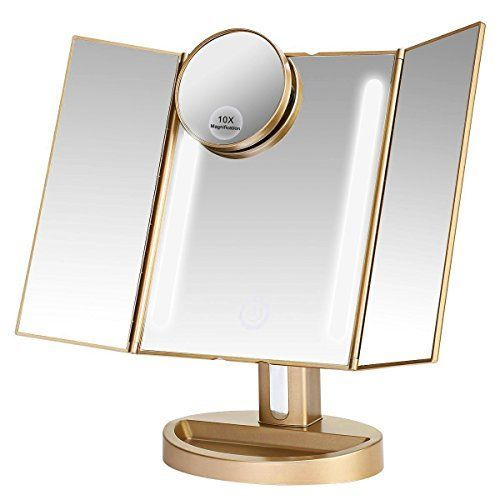 Assis Led Lighted Makeup Mirror With 10x Magnifying Natural Led