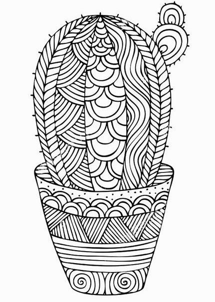 New Coloring Books For Adults Awesome Cacti Coloring Page Mandala Coloring Pages Cute Coloring Pages Mandala Coloring