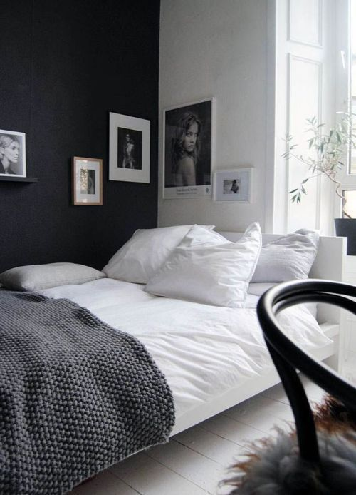 Bedroom Design Black And White Walls Small Bedroom Small Room