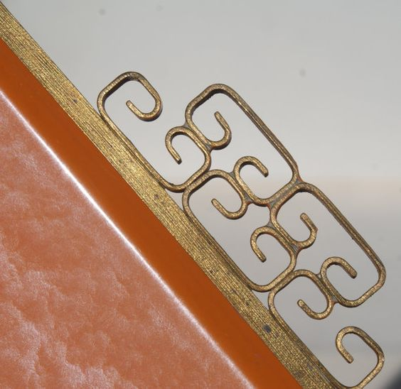 Orange Moire Glaze Kyes Tray by BeachLaneVintage on Etsy, $30.00