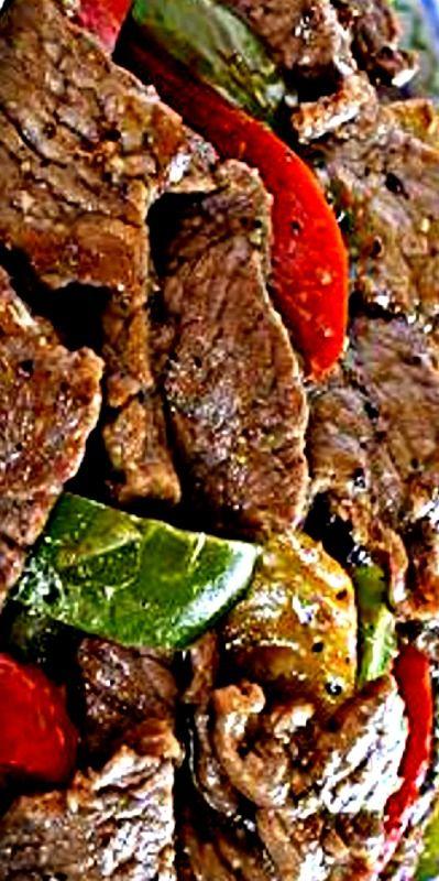 Black Pepper Beef Stir Fry