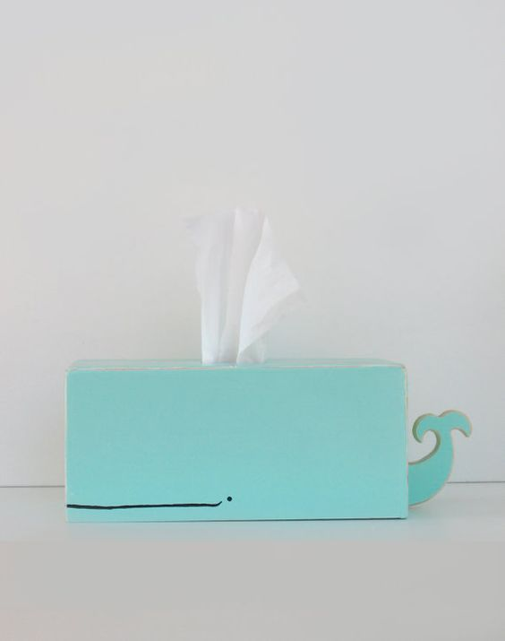 fun - whale tissue holder