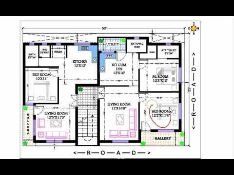 35x50 Apartment 1bhk And 2 Bhk Flat Plan Flat Plan 2bhk House Plan How To Plan