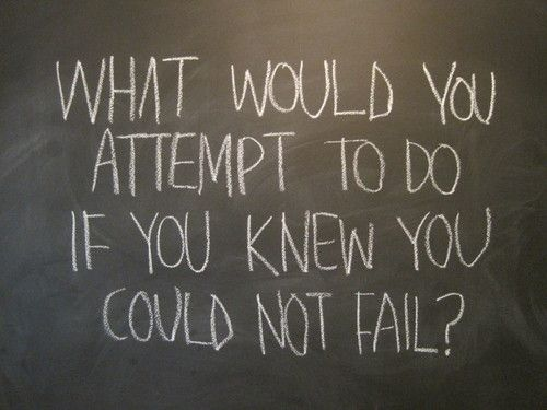 What would you attempt to do if you you knew you could not fail?