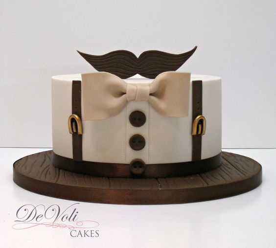 . #cake #boy #bowtie