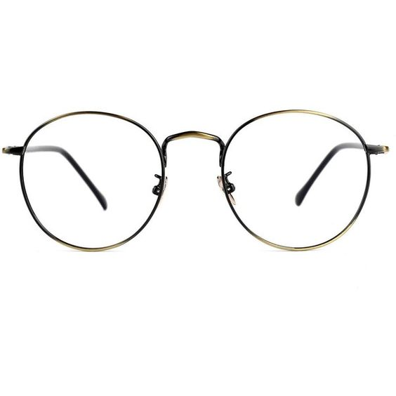 Amazon.com: TIJN Retro Round Metal Frame Thin Optical Eyeglasses Eye.