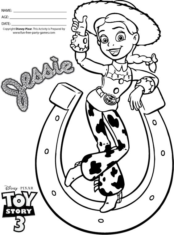 Coloring toys and chang 39 e 3 on pinterest for Toy story 3 jessie coloring pages