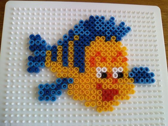 Flounder The little mermaid perler beads by RockerDragonfly on deviantart