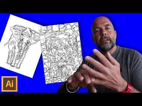 9 How To Create An Amazon Kdp Coloring Book Interior Fast From Photographs And Images In Illustrator Youtube Coloring Books Books Book Images