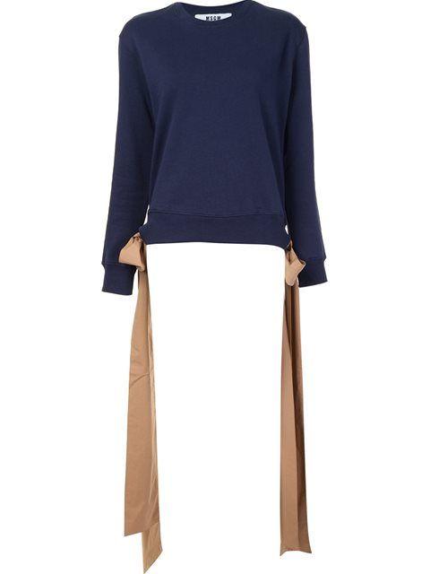MSGM Side-Tie Sweatshirt. #msgm #cloth #sweatshirt