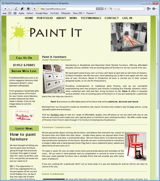 Paint It Furniture - Beautiful hand painted upcycled shabby chic furniture all created in Shropshire