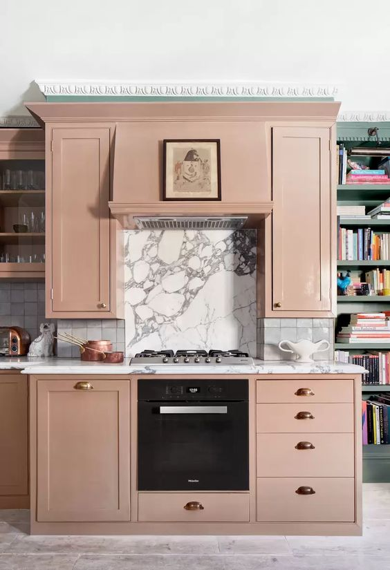 A pink kitchen design idea by Tara Craig | House & Garden
