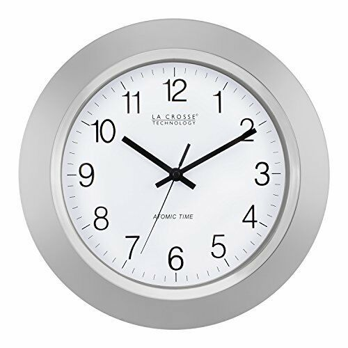 La Crosse Technology Wt 3144s 14 Inch Atomic Analog Clock Silver In 2020 Silver Wall Clock Atomic Wall Clock Wall Clock