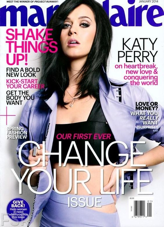 Katy Perry - Marie Claire January 2014
