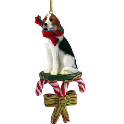 American Foxhound Candy Cane Ornament