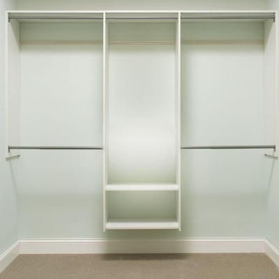 Martha Stewart Living 72 in. H x 96 in. W Classic White Essential Closet Kit-680070 - The Home Depot