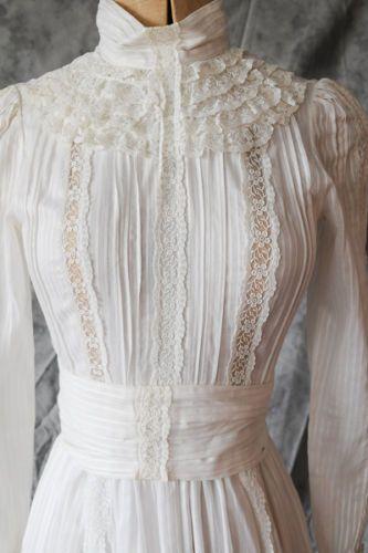 Laura Ashley Edwardian Wedding Style Dress 1983 Rare Collectors Item