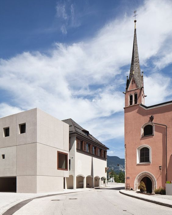 Hauptschule Rattenberg, Rattenberg, 2011 by Studio Fügenschuh #architecture #contrast #design #contemporary #history