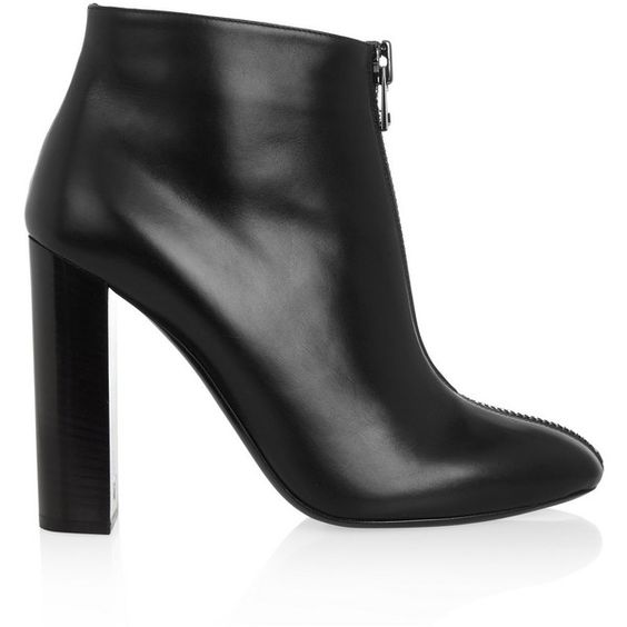 Tom Ford Zipped leather ankle boots (18.650.835 IDR) ❤ liked on Polyvore