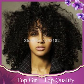 Best Quality! Unprocessed Brazilian Full Lace Wig Beautiful Afro Kinky Curly Human Hair Wigs In Stock Free Shipping!