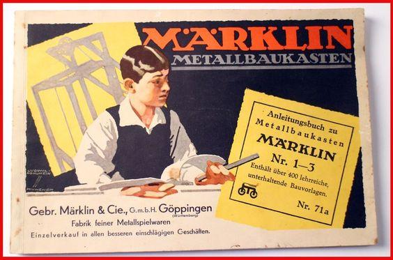 Märklin Bauanleitung 71 a 1936 Antik Maerklin Militaria Eisenbahn Metall 1 3