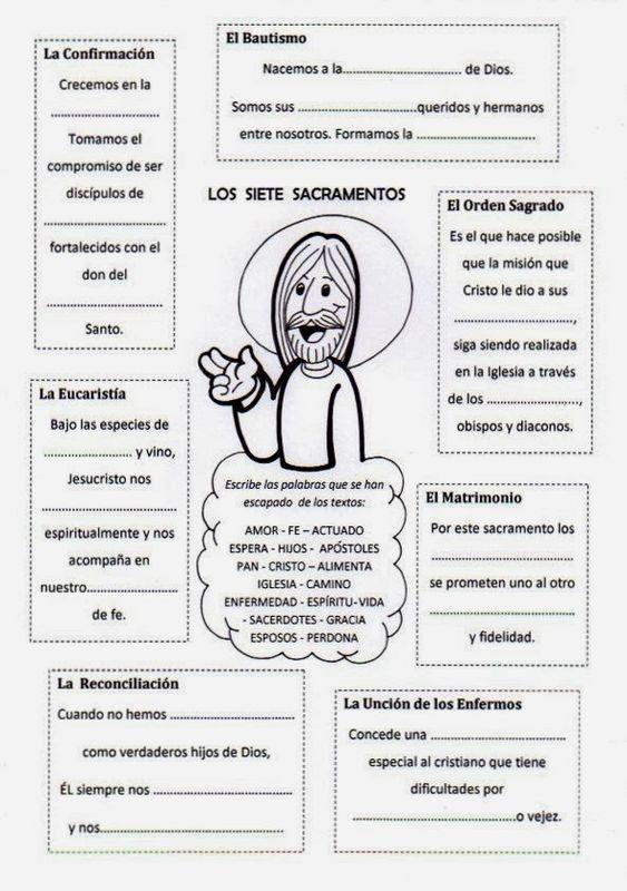 La Catequesis: Recursos Catequesis Los Sacramentos