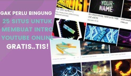 Simpel Cara Membuat Intro Youtube Online Gratis Youtuber Youtube Belajar