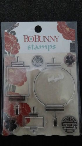 Bo Bunny Serenity Clear Stamp Set SSE480 Asian Lanterns Scrapbooking Craft