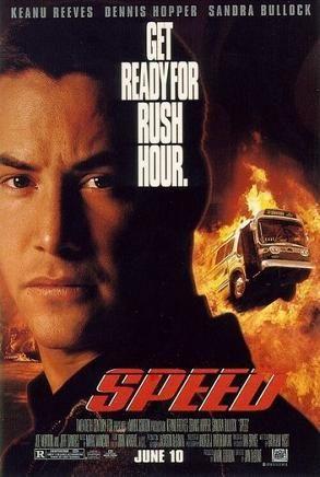 Speed : 1994 - what a movie.. love it. Keane Reeves & Sandra Bullock.