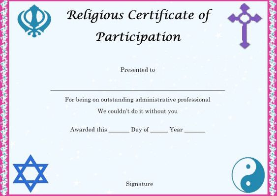 Religious Certificate Templates for Your Church Activities - church bylaws template
