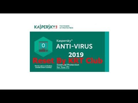 Reset Kaspersky Antivirus 2019 By KRT Club+key - YouTube