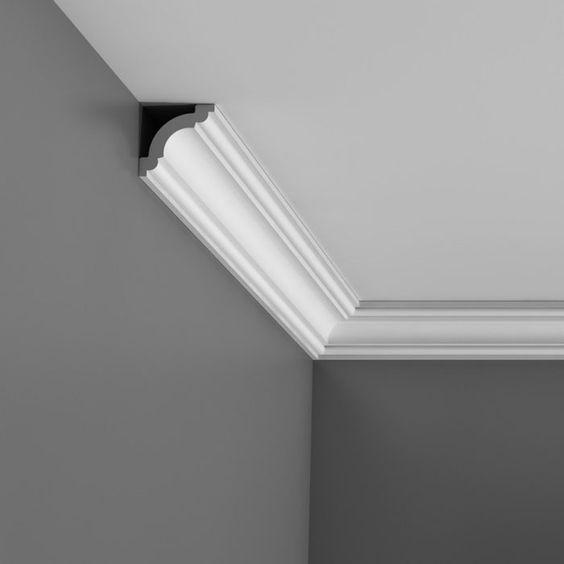 corniche moulure de plafond orac decor pour cimaise deco rail cx124 sejour d 233 co