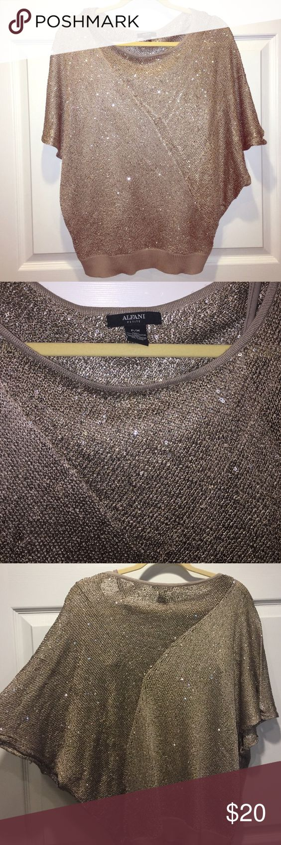 Alfani (petit) Glitter blouse Beautiful glitter blouse with tank top underneath Alfani Tops Blouses