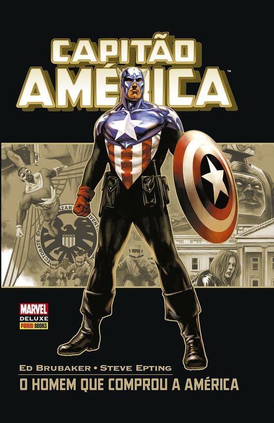 Capitão América - O Homem Que Comprou a América - Marvel Deluxe - MonsterBrain