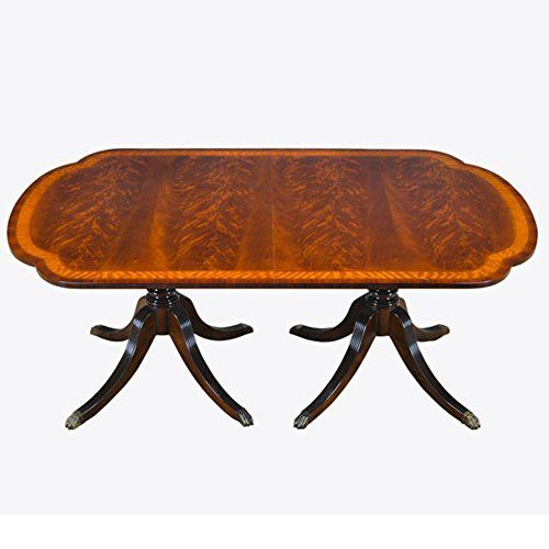 NDRT052 Scalloped Corner Mahogany Dining Table By NIAGARA FURNITURE
