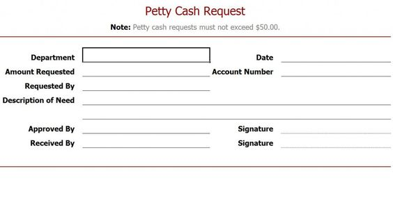 Petty Cash Log Template - Resume Template Sample