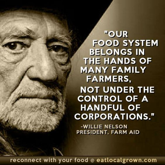 """Our food system belongs in the hands of many family farmers, not under the control of a handful of corporations."" ..."