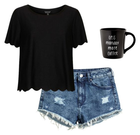 """productive sunday"" by kaylynnslayton ❤ liked on Polyvore featuring H&M and Topshop"