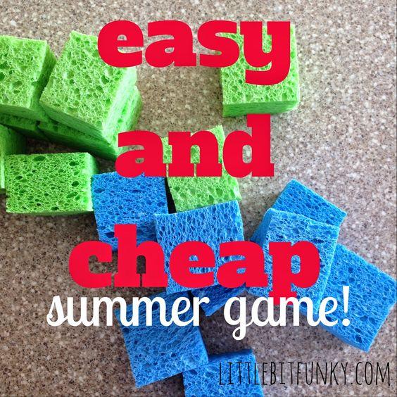Little Bit Funky: 40 ideas number 19 - Sponge target game!