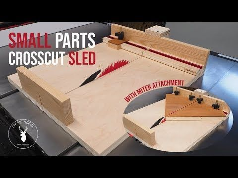 Small Parts Crosscut Sled How To Build A Miniature Table Saw Crosscut Sled For Small Parts With A T Table Saw Crosscut Sled Table Saw Woodworking Tool Plans