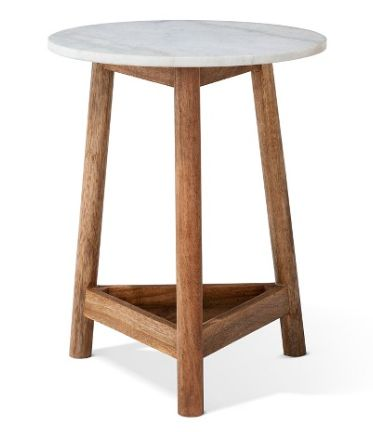 Round three legged accent table