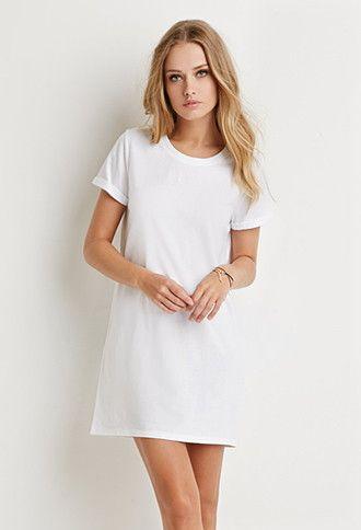Cotton T-Shirt Dress - Forever 21 - 2000157536 - Virtual Closet ...