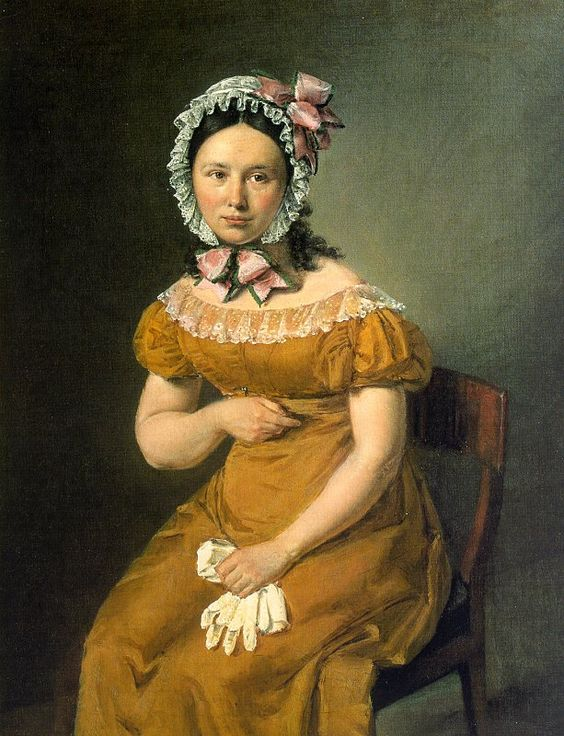 Portrait of Catherine (the artist's wife) by Jensen, ca. 1815: