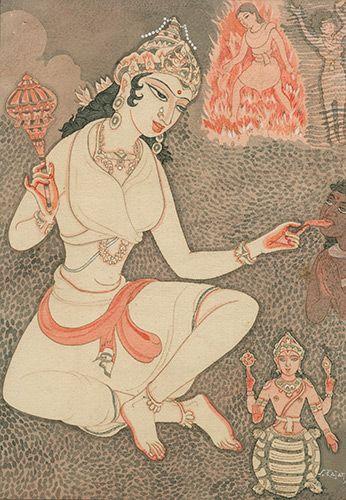 Goddess Yamuna with her tortoise vahana