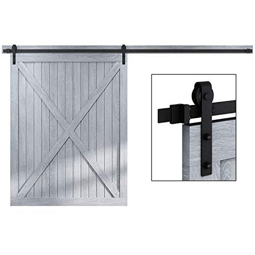 12 Ft Heavy Duty Sliding Barn Door Hardware For Wide Opening And Two Openings 12ft Single Door In 2020 Barn Door Hardware Sliding Barn Door Hardware Sliding Barn Door