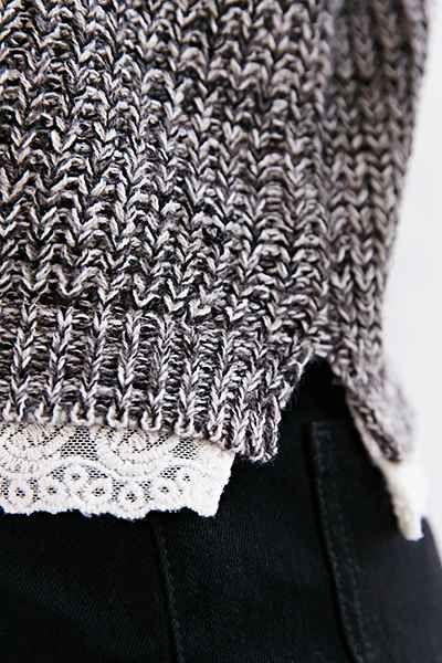 Blu Pepper Lace Trim Pullover Sweater - Urban Outfitters