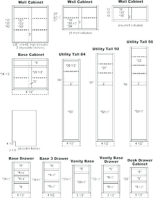 Standard Cabinet Widths Standard Kitchen Cabinet Dimension Upper